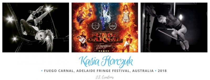 Kasia Dance Trapeze Aerial Ice Fire Skates Cirque Fringe